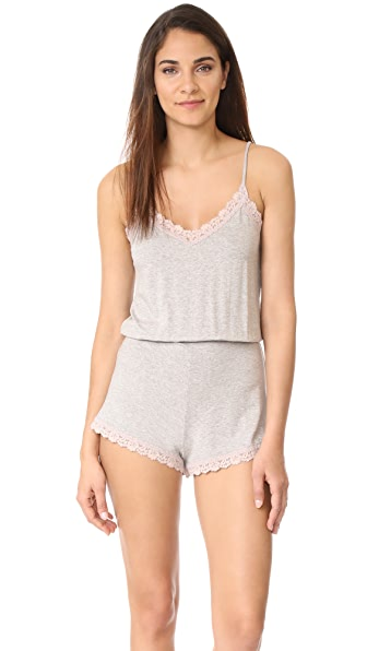 Hanky Panky Heather Sleepwear Romper - Heather Grey