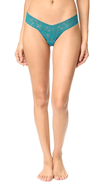 Hanky Panky Signature Lace Petite Low Rise Thong In Moonstone Green