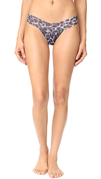 Hanky Panky Mysterious Feline Low Rise Thong In Multi