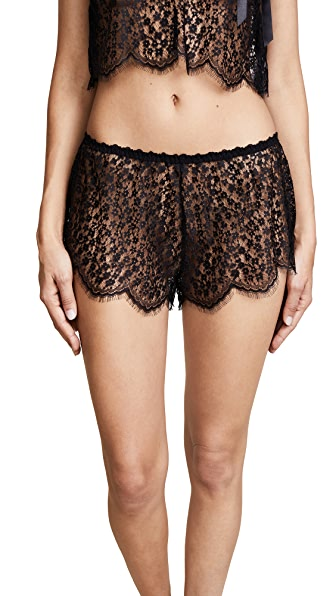 Hanky Panky After Midnight Valentina Tap Shorts In Black