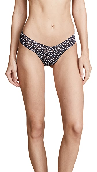 Hanky Panky Flurries Low Rise Thong In Black/White