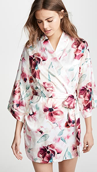 Hanky Panky Tops GETTING READY PRINT ROBE