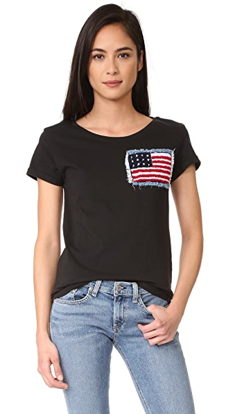 Happiness American Flag Tee