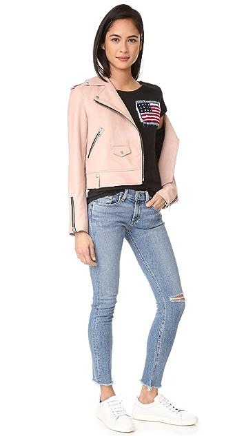 Happiness American Flag Tee