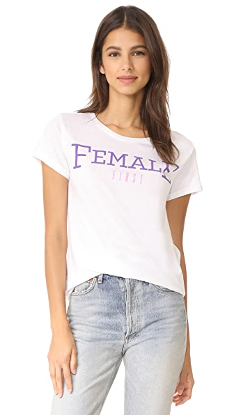 Happiness Female Tee - White