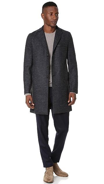 Harris Wharf London Boxy 3 Button Tartan Tweed Coat