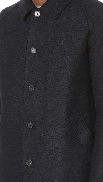 Harris Wharf London Raglan Sleeve Pressed Wool Coat