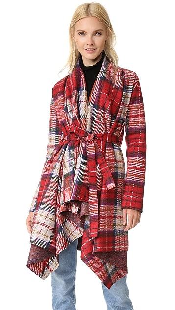 Harris Wharf London Belted Blanket Coat