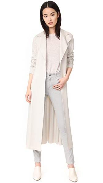 Harris Wharf London Long Duster Coat - Ecru