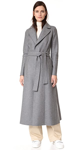 Harris Wharf London Long Duster Coat - Grey Mouline