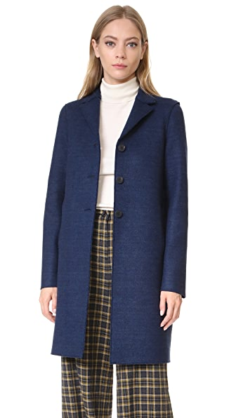 Harris Wharf London Boxy Coat - Denim