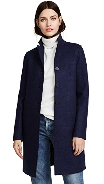 Harris Wharf London Boxy Coat In Denim