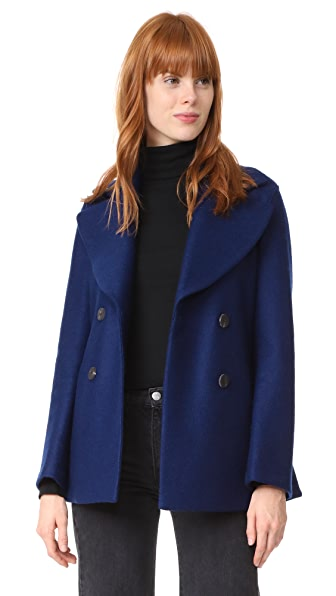 Harris Wharf London Pea Coat - Ink