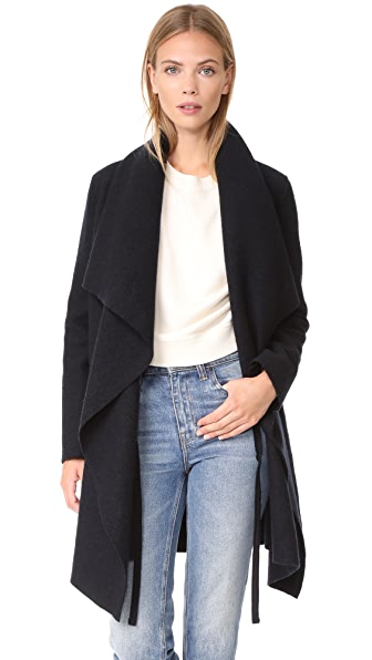 Harris Wharf London Blanket Coat - Dark Blue