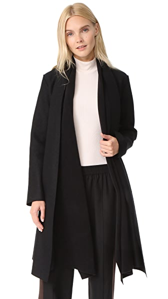 Harris Wharf London Long Blanket Coat - Black
