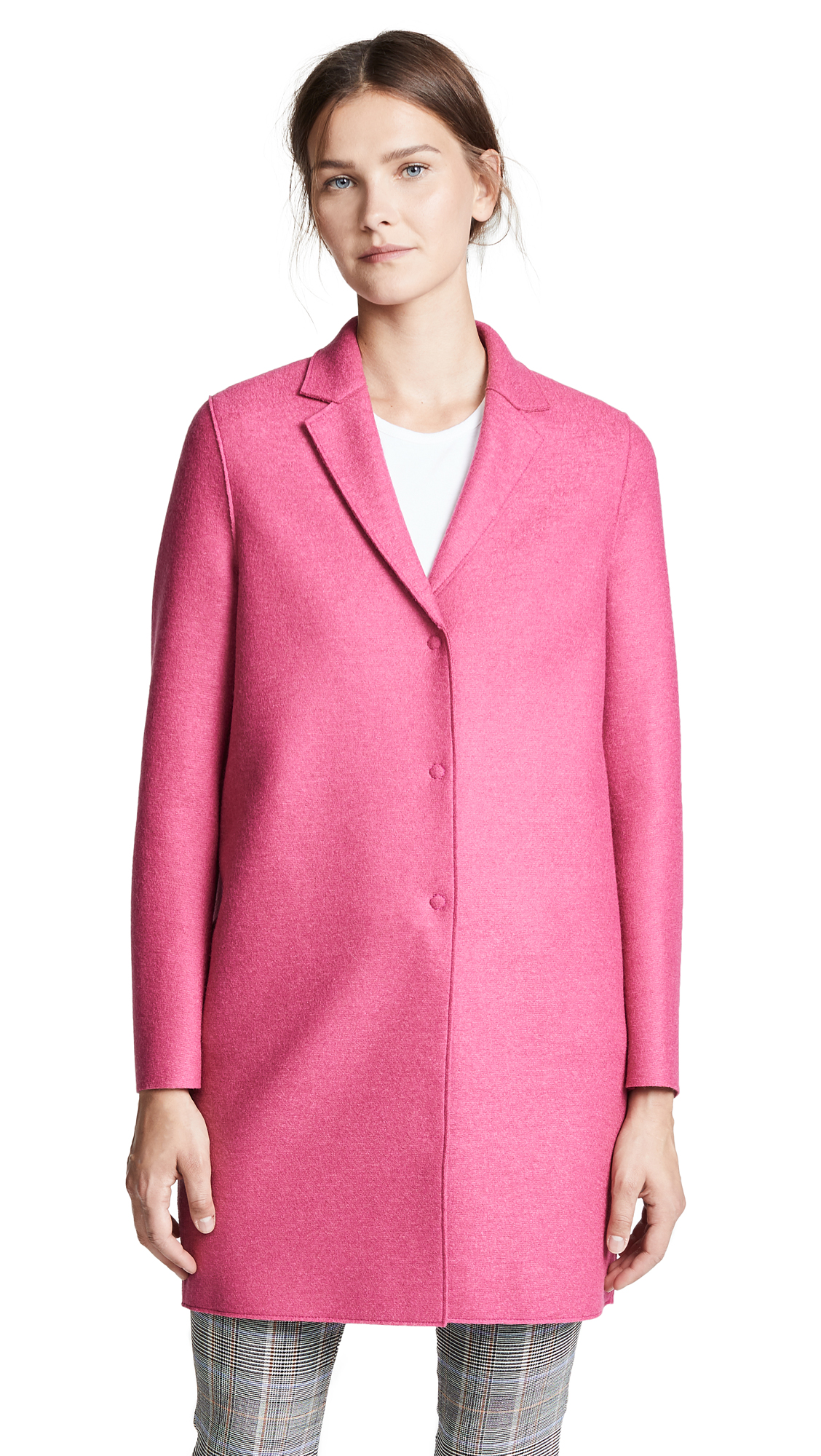 Harris Wharf London Pressed Wool Coat In Bubble