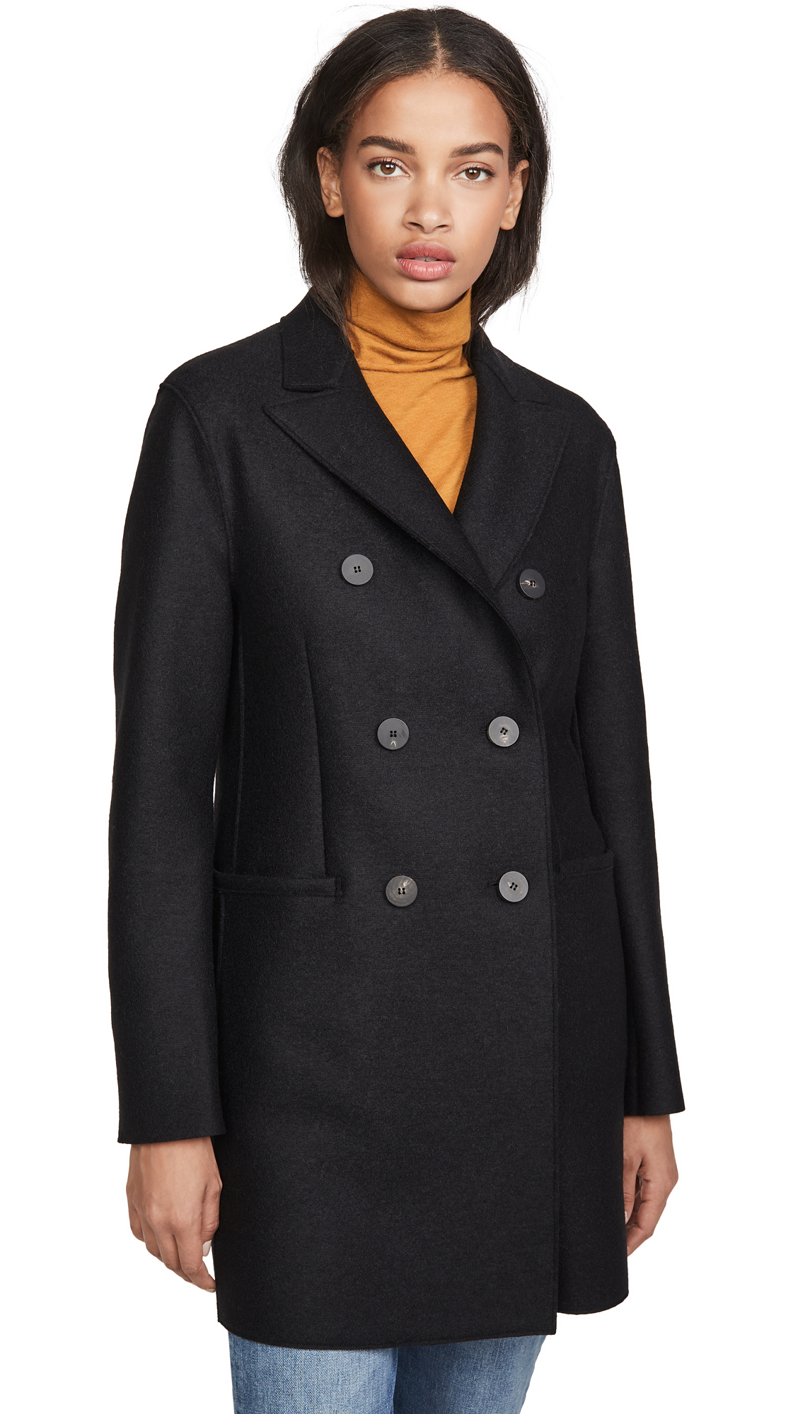 Buy Harris Wharf London online - photo of Harris Wharf London Short Double Breasted Coat