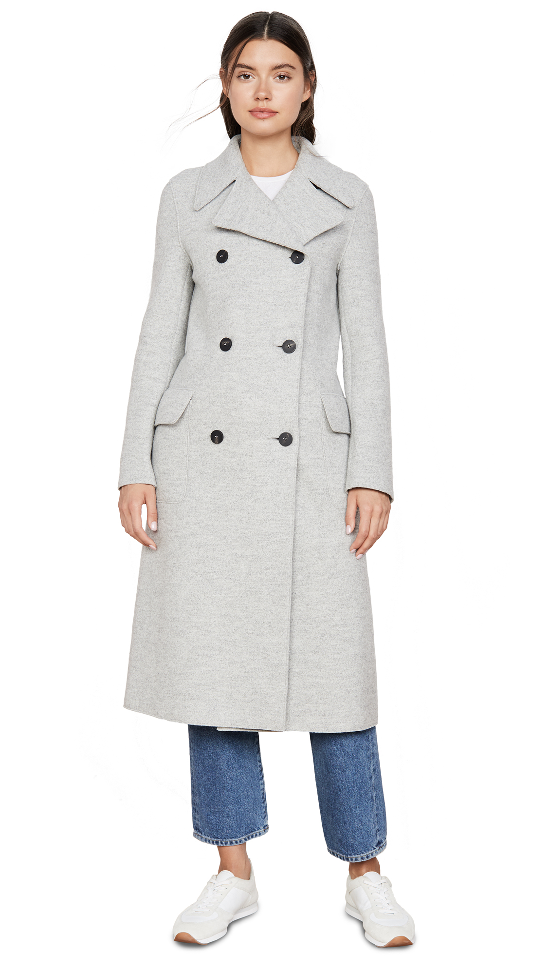 Buy Harris Wharf London online - photo of Harris Wharf London Double Breasted Military Coat
