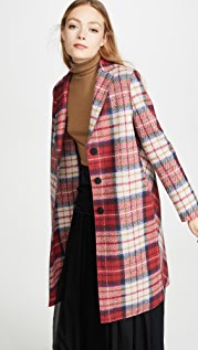 Harris Wharf London Tartan Overcoat