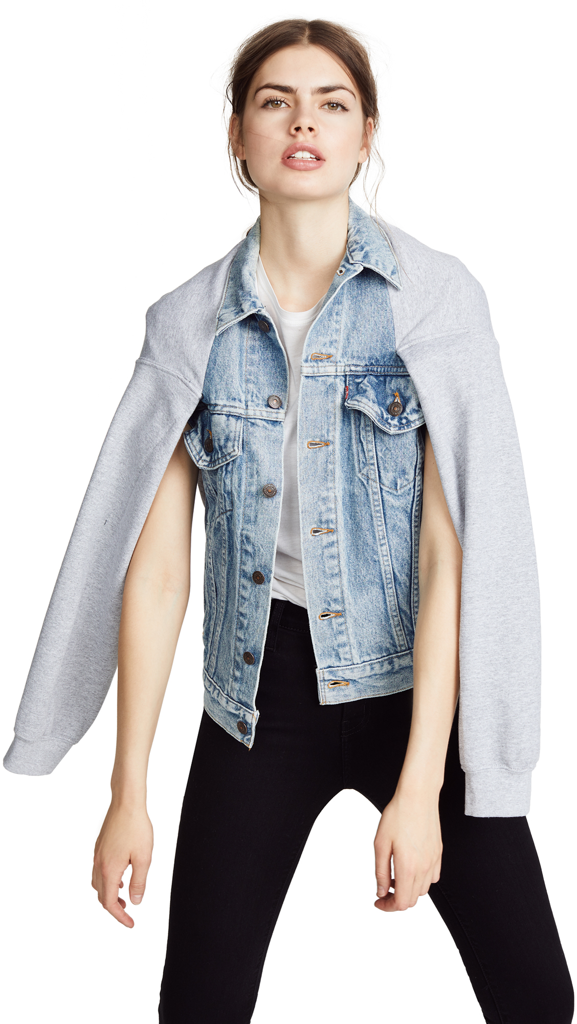HARVEY FAIRCLOTH Denim Cape Jacket in Heather