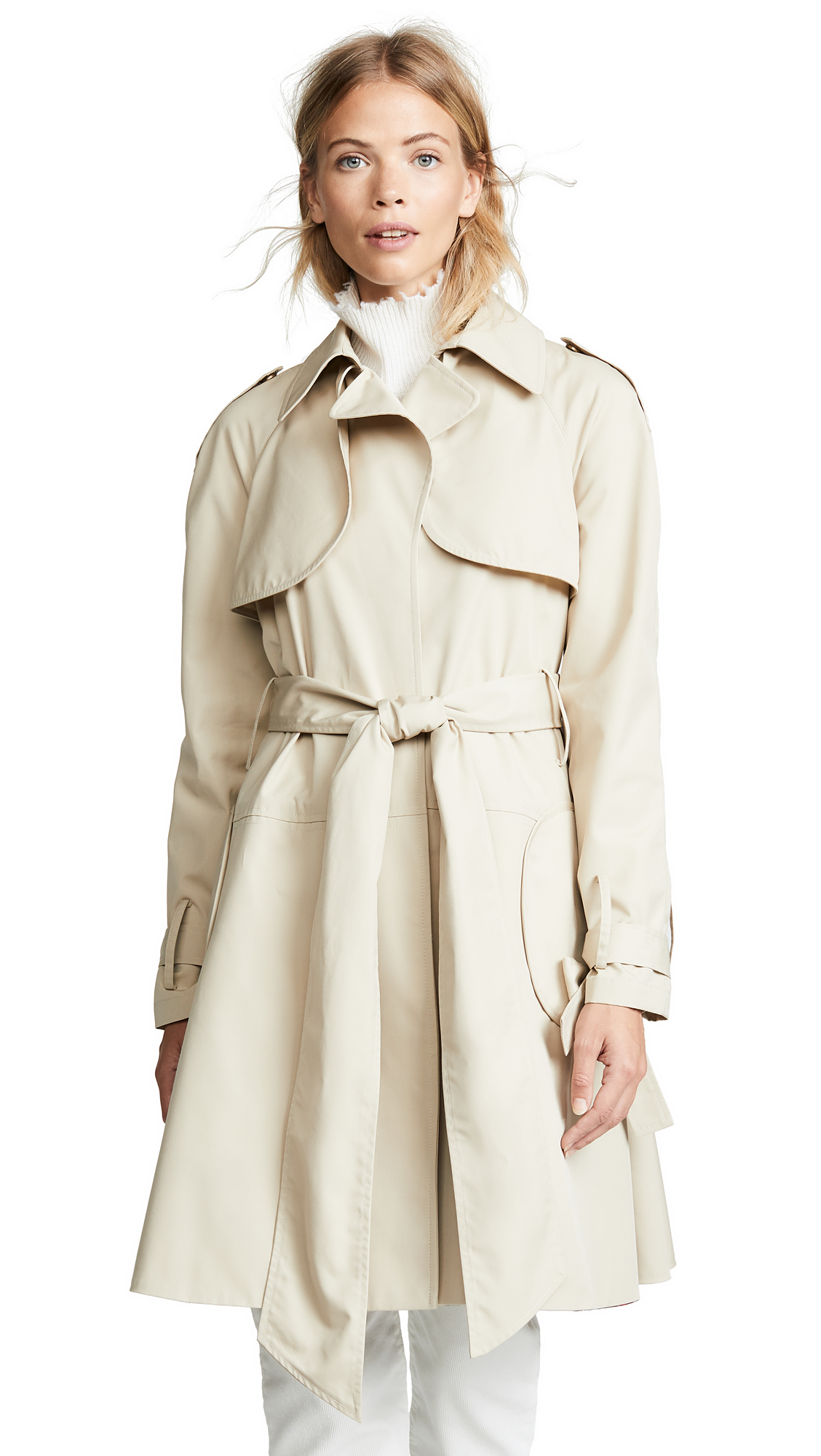 HARVEY FAIRCLOTH Trench Coat in Khaki