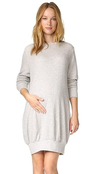 HATCH The Sweatshirt Dress - Charcoal Heather