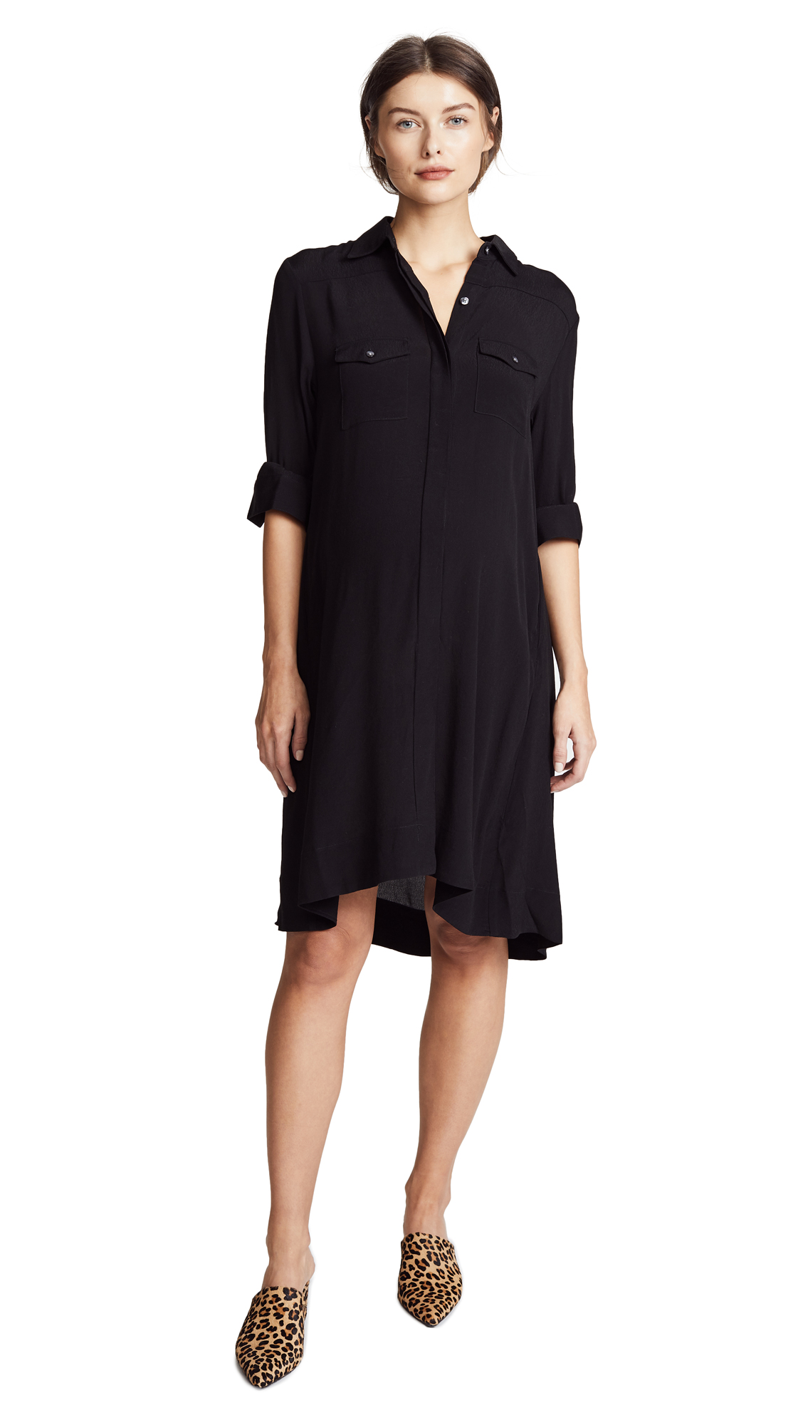 HATCH The Shirtdress In Black