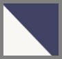 Navy/Ivory Speckled Stripe