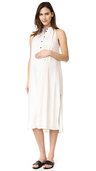 HATCH The Medina Dress - Ivory/Black Painted Diamond