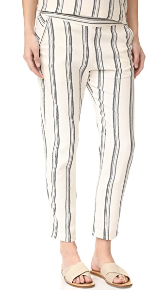 HATCH The Cassie Pants - Black/White Stripe