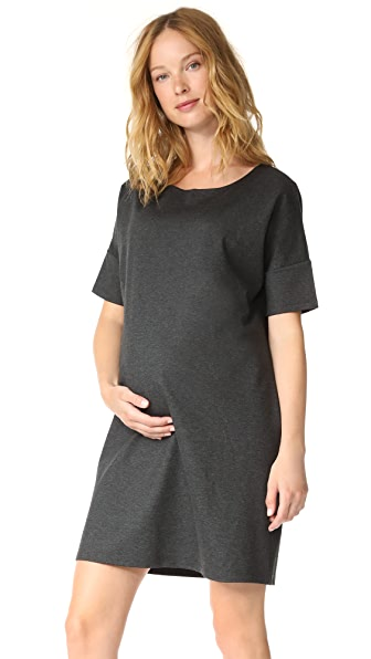 HATCH Afternoon Dress In Charcoal