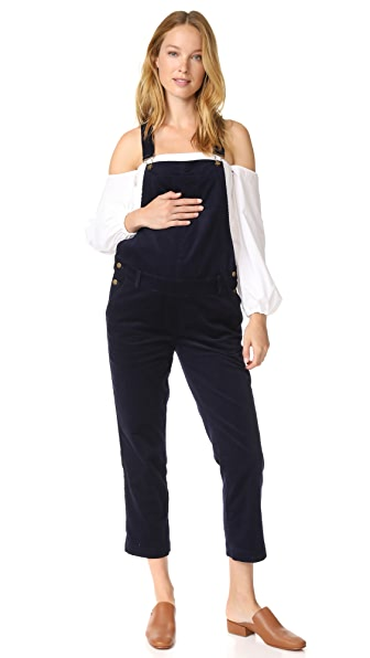 HATCH Cord Overalls In Midnight