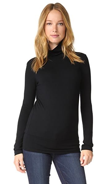 HATCH Jersey Turtleneck In Black