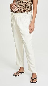 c7a27f7e73 HATCH. Linen Paperbag Pants