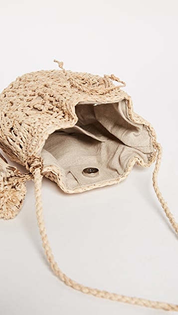 Hat Attack Raffia Pouchette Bag