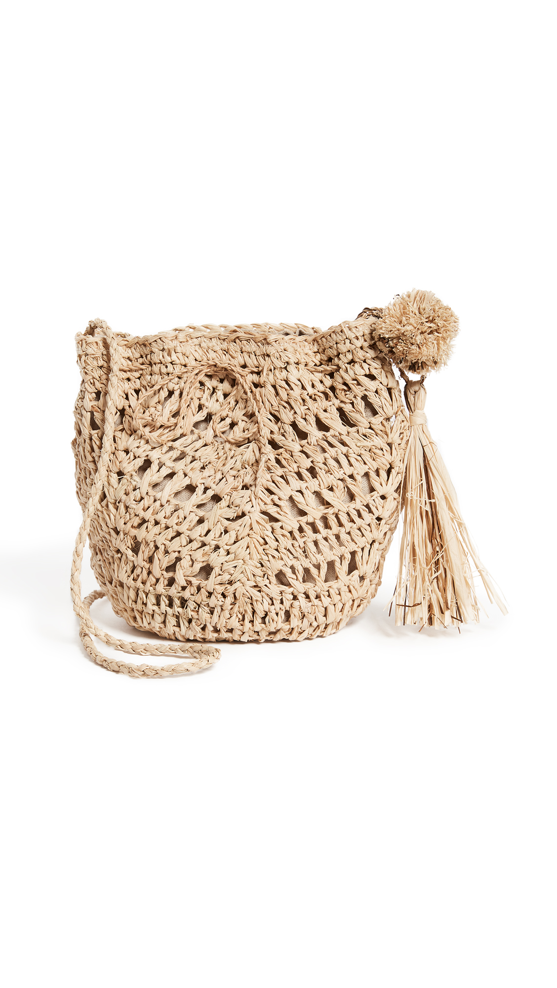Hat Attack Raffia Pouchette Bag - Natural