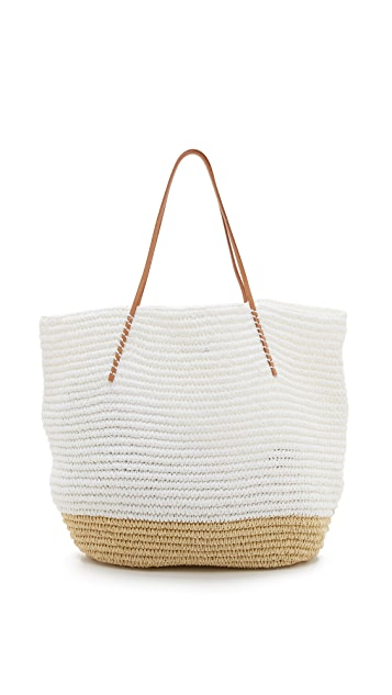 Hat Attack Twisted Colorblock Tote