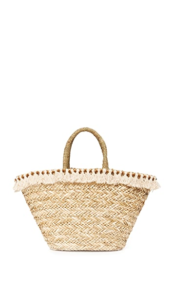 Hat Attack Seagrass Tote With Tassels