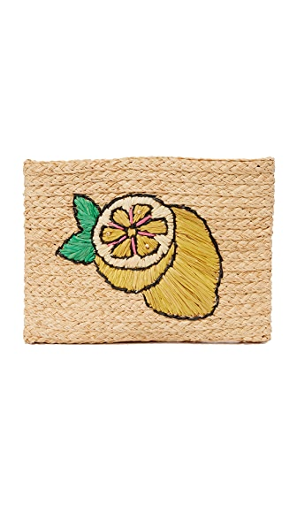 Hat Attack Embroidered Clutch