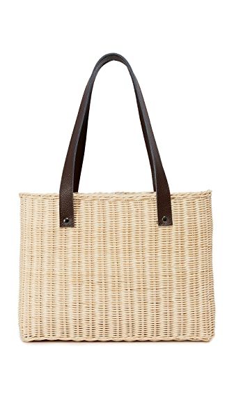 Hat Attack Wicker Basket Bag