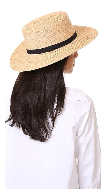 Hat Attack Raffia Braid Boater Hat