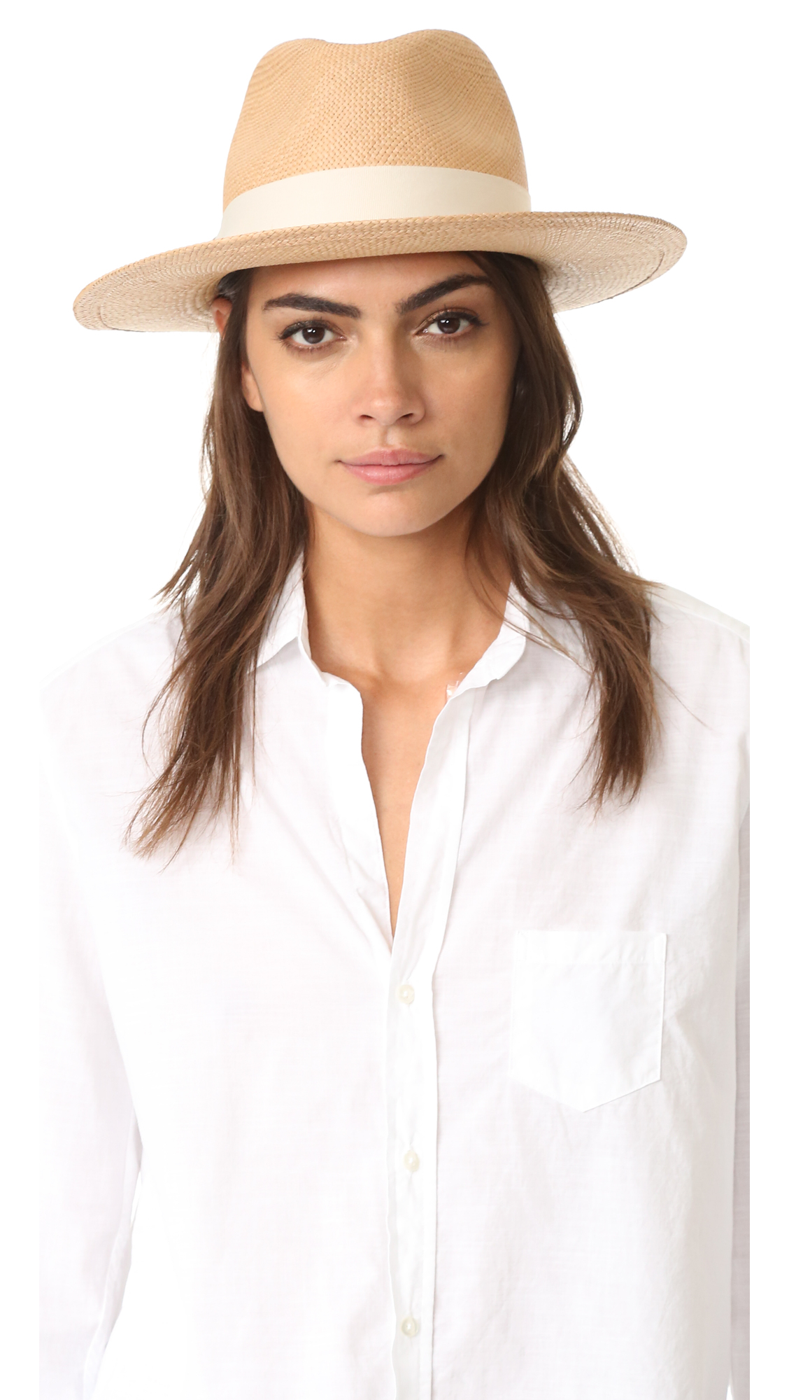 Hat Attack Panama Continental Hat - Pecan/Ivory