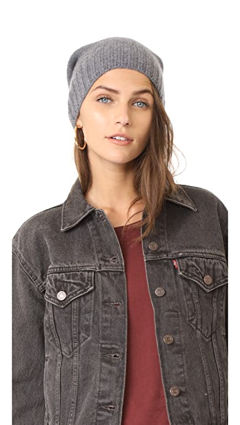 Hat Attack Slouchy Cashmere Hat - Charcoal