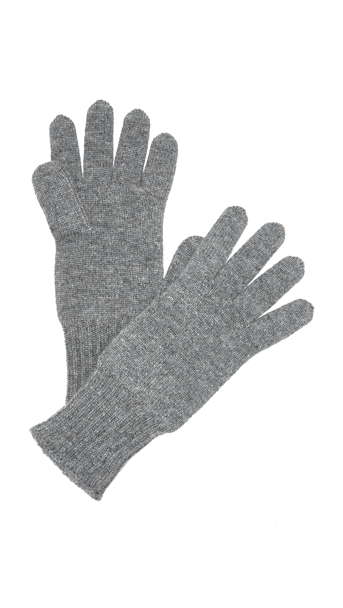 Hat Attack Cashmere Gloves - Charcoal