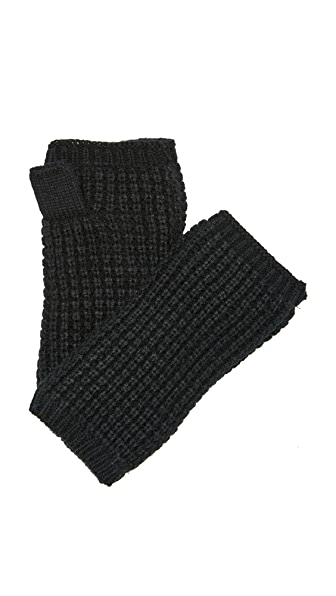 Hat Attack Waffle Knit Plush Arm Warmer In Black