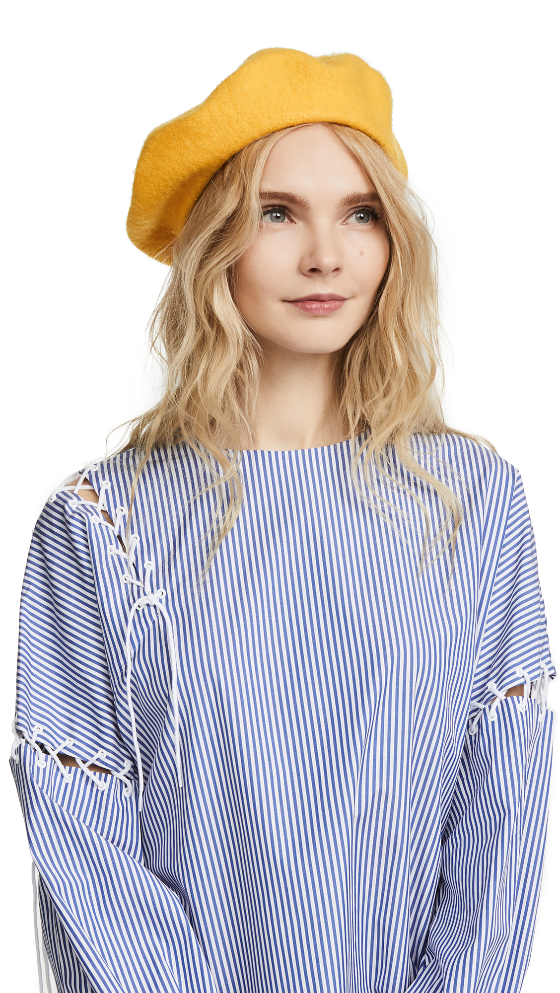 Hat Attack Wool Beret - Yellow