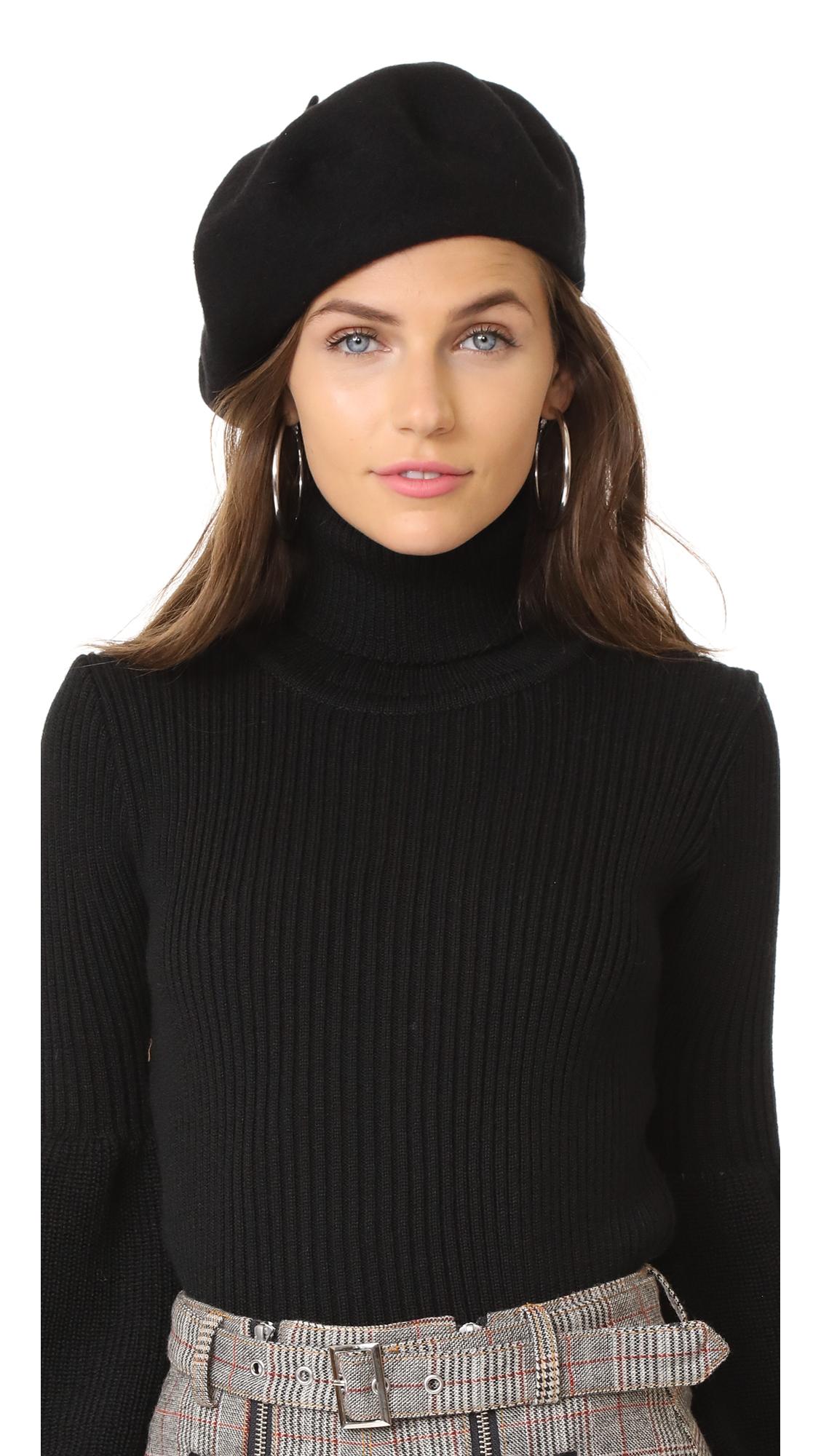 Hat Attack Wool Beret - Black