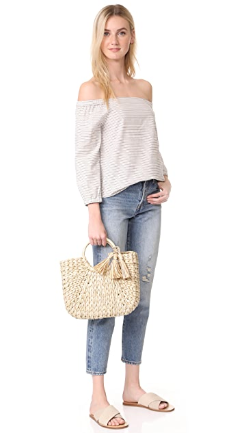 Hat Attack Small Round Handle Tote
