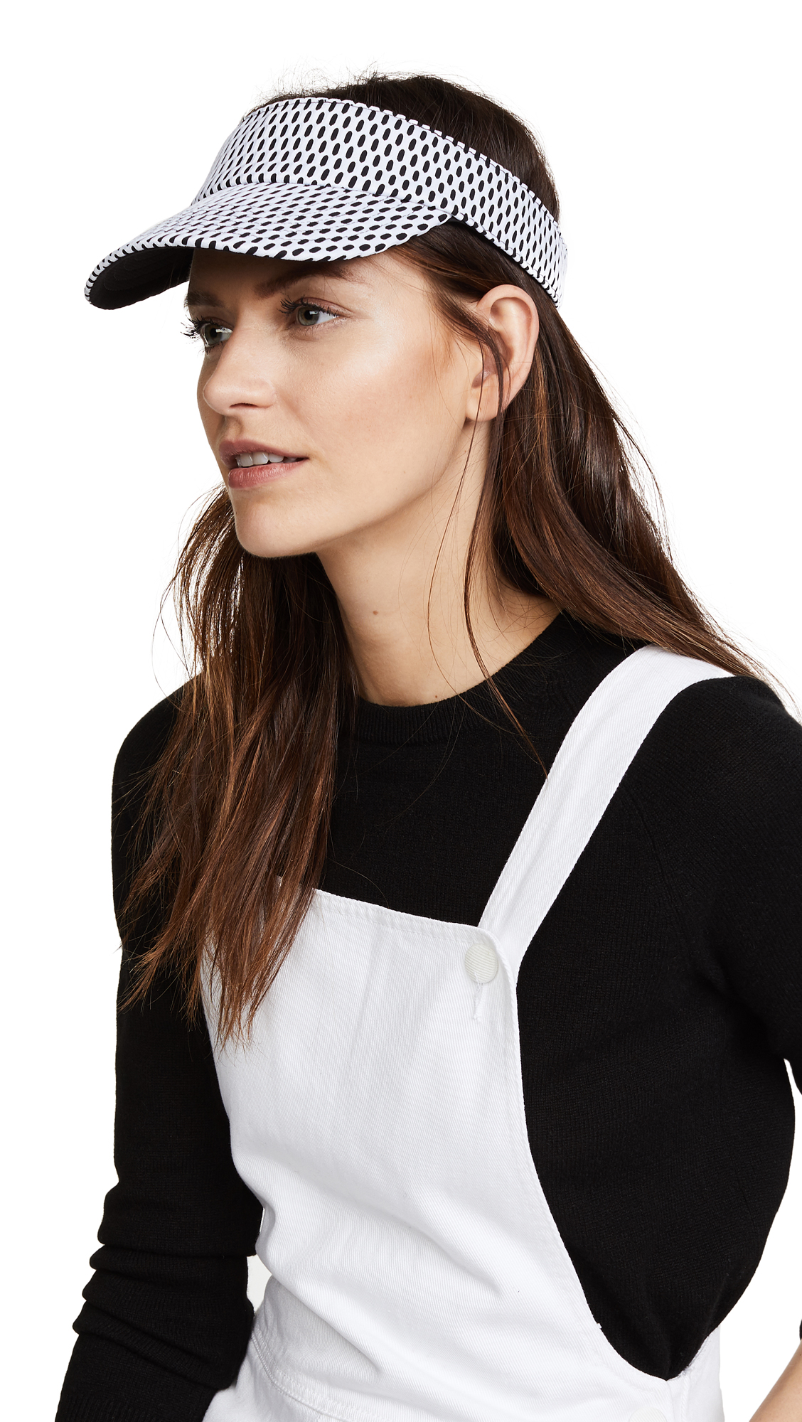 Hat Attack Mesh Visor - Black/White