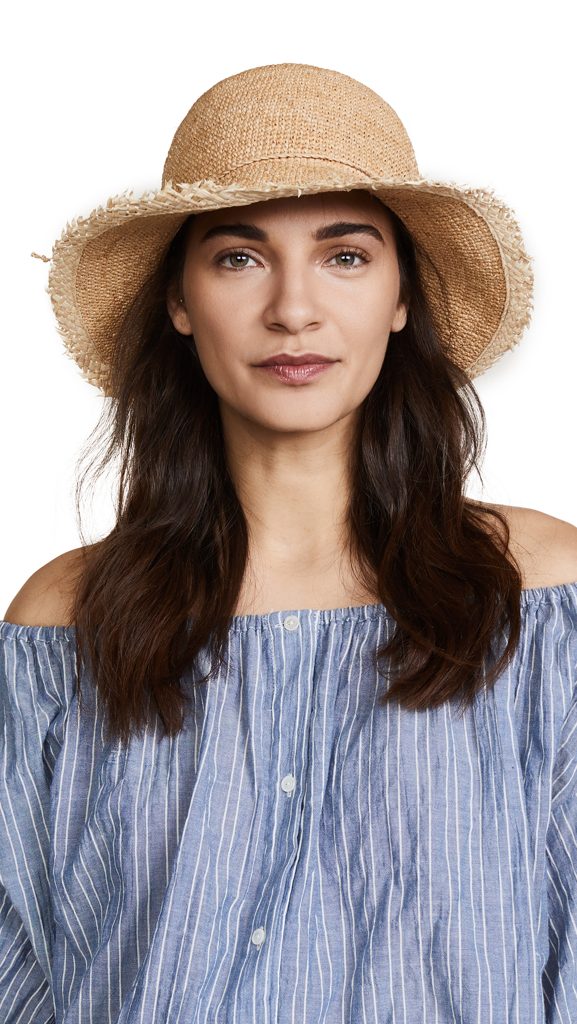 Hat Attack Rachel Fringed Hat - Natural